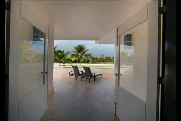 villa tortuga bay - terraza hamaca
